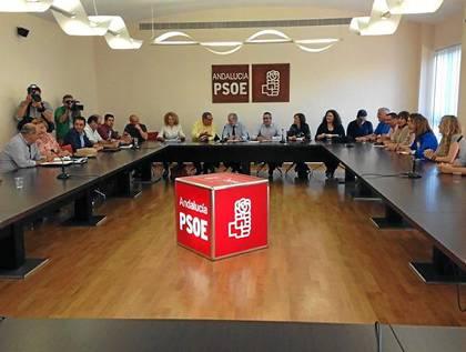 Imagen de la Comisión Ejecutiva Provincial del PSOE de Sevilla que se reunió ayer.
