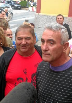 Diego Cañamero, este martes en los juzgados de Utrera.