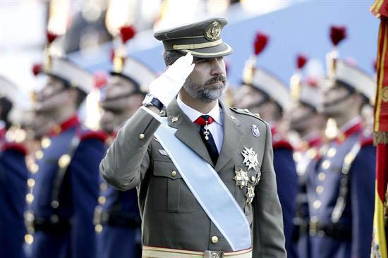 El Príncipe preside los actos del Día de la Hispanidad. / EFE