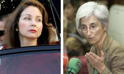 La jueza Mercedes Alaya y la Fiscal jefe María José Segarra.