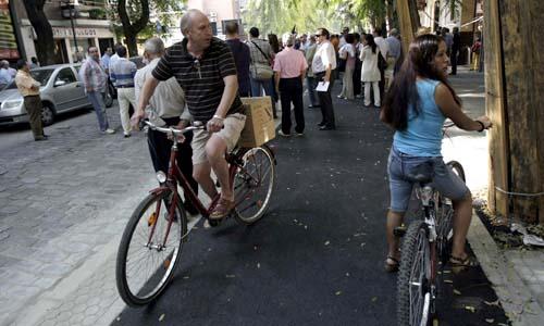 Sevilla,19-10-09: Manifestacion en San Jacinto contra las obras, la p
