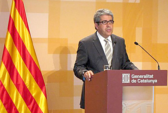 El conseller de la Presidencia y portavoz del Govern, Francesc Homs, este martes. / E.P.