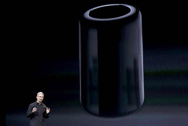 El nuevo Mac Pro, cilíndrico, saldrá a la venta en diciembre.