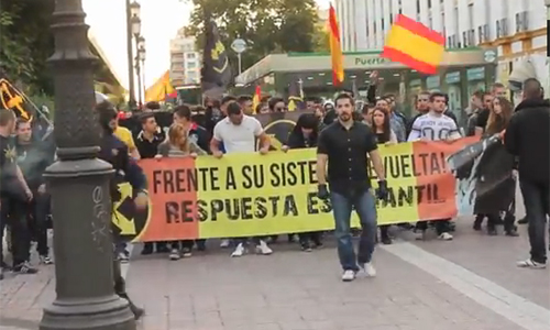 manifestacion ultras video