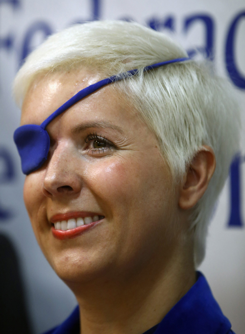 File picture shows Marussia Formula One test driver Maria de Villota of Spain