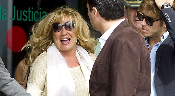 Marisol Yagüe, a la salida de la Audiencia de Málaga. / EFE