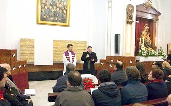 Inhumación, el pasado mes de febrero, de las reliquias de los hermanos claretianos en el Claret.