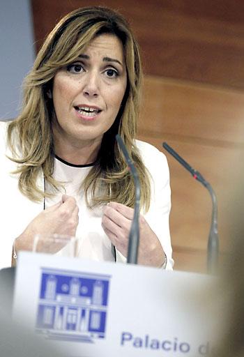 Díaz, en la rueda de prensa tras la reunión. / EFE