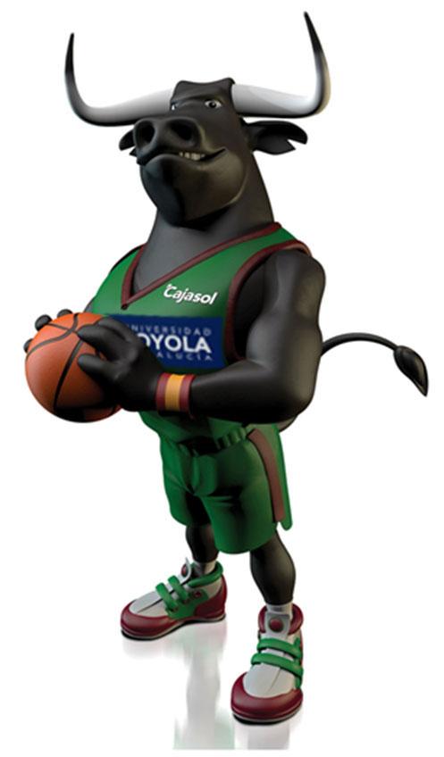 Así es la nueva mascota del Cajasol Baloncesto, el toro Jerónimo.