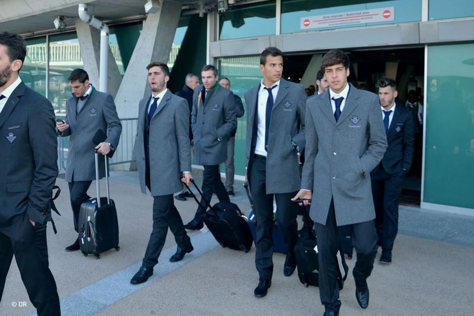 Los canteranos Pepelu, Pedro y Abeledo, a su llegada a Lyon / OL