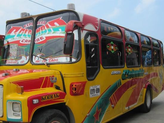 El autobús en el que trabajó Bacca. (Foto: kienyke.com)