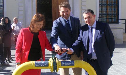 Comienzo de la actividad de Gas Natural Andalucía en Bollullos.