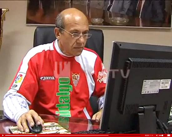 Del Nido, en su despacho. (Foto: Sevilla FC)