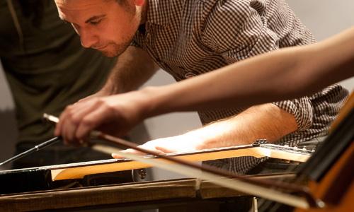 Detalle de un concierto del Nou Ensemble de Mallorca.