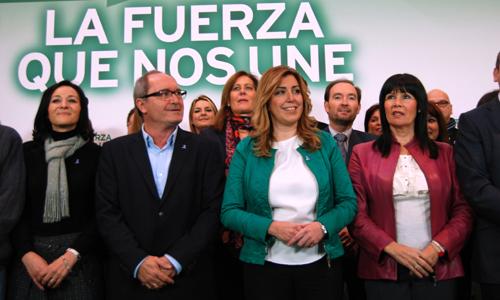 Comisión Ejecutiva del PSOE-A, con Susana Díaz como secretaria general.