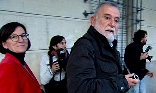 Antonio Rodrigo Torrijos a su entrada a los Juzgados de Sevilla.