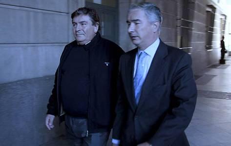 Ángel Martín, en una visita anterior a los juzgados.