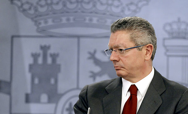 El ministro de Justicia, Ruiz Gallardón.