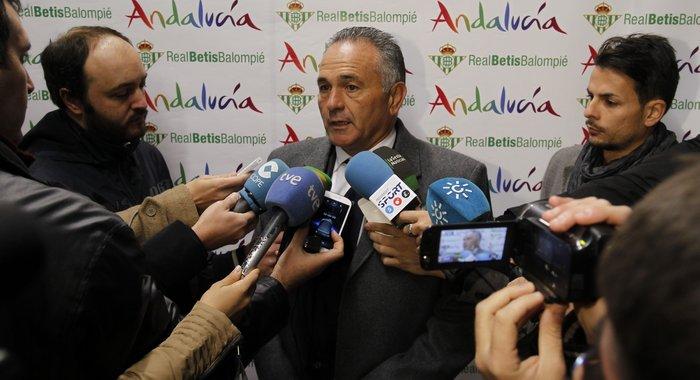 Rafael Gordillo, esta mañana en San Pablo / Real Betis