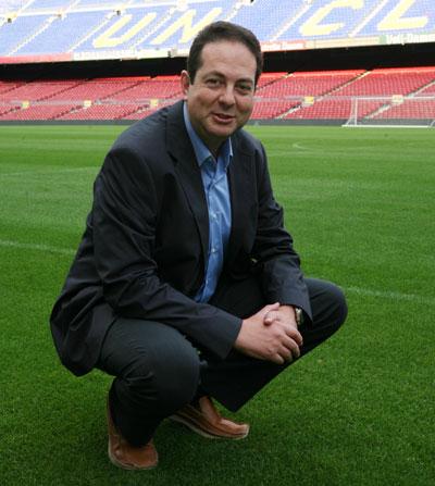 Eudald Morera, consejero delegado de Royalverd, en el Camp Nou / interempresas.net