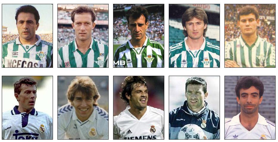 Gordillo, Calderón, Alfonso, Jarni, Parra, Butragueño, Martín Vázquez, Morientes, Buyo, García Cortés... Todos son leyenda en el Villamarín.