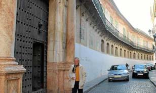 Exterior del palacio de Peñaflor de Écija, que el Gobierno local quiere rehabilitar.