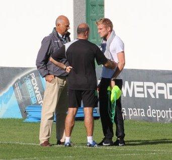 Perquis, con el doctor Calero y Mel esta mañana / Real Betis