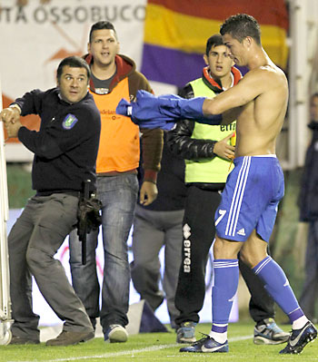 Ronaldo al final del partido.