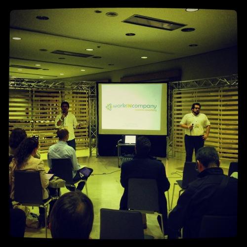 Conferencia de Jaime Aranda y Alberto Pérez Sola, del equipo de WorkIngCompany, en la Zona Talento del Evento Blog 2013. / María José Guerrero