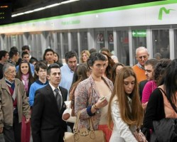 El Metro de Sevilla registró en la pasada Semana Santa una subida de viajeros del 3,4%.
