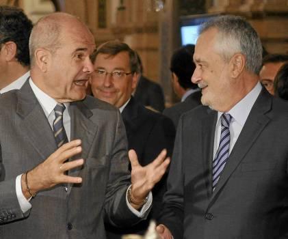 Los expresidentes de la Junta Manuel Chaves y José Antonio Griñán