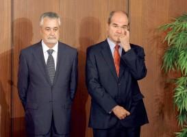 Manuel Chaves y José Antonio Griñán, expresidentes de la Junta