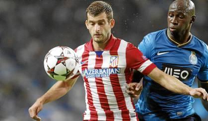 Leo Baptistao, en el Atlético-Oporto de esta Liga de Campeones.