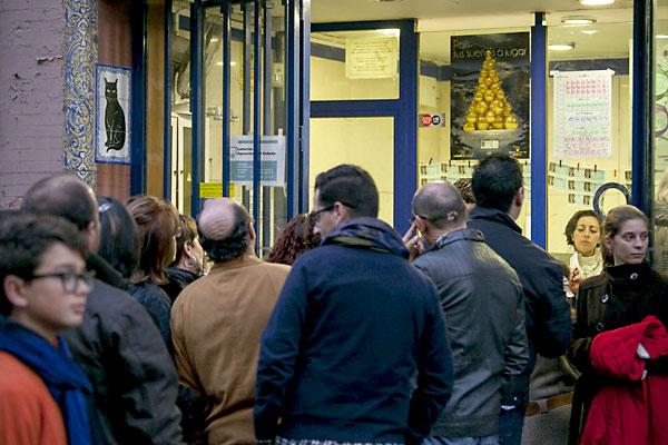Lotería de Navidad. Foto: J.M. Espino (Atese)