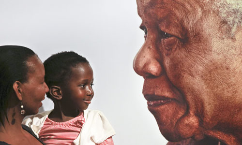 Late South African president Nelson Mandela death mourning