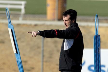 Emery, en la ciudad deportiva (Marcamedia).