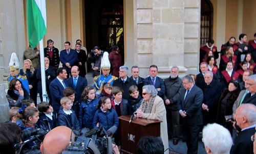 Acto homenaje a la bandera de Andalucía
