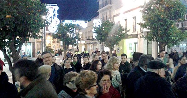 Imagen de anoche en Alcalá de Guadaíra.