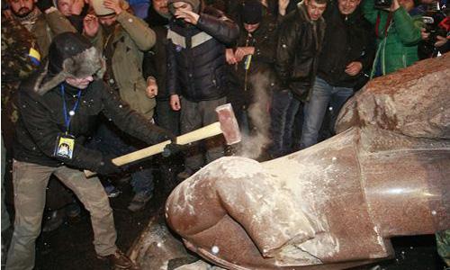 estatua Lenin Kiev