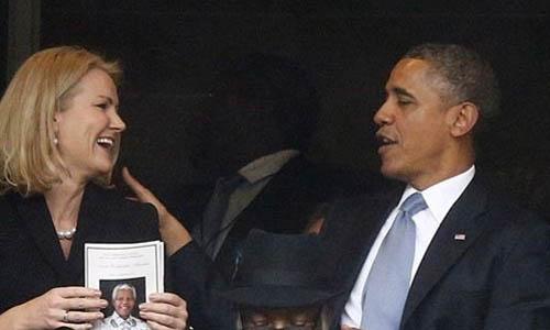 flirteo Obama funeral Mandela