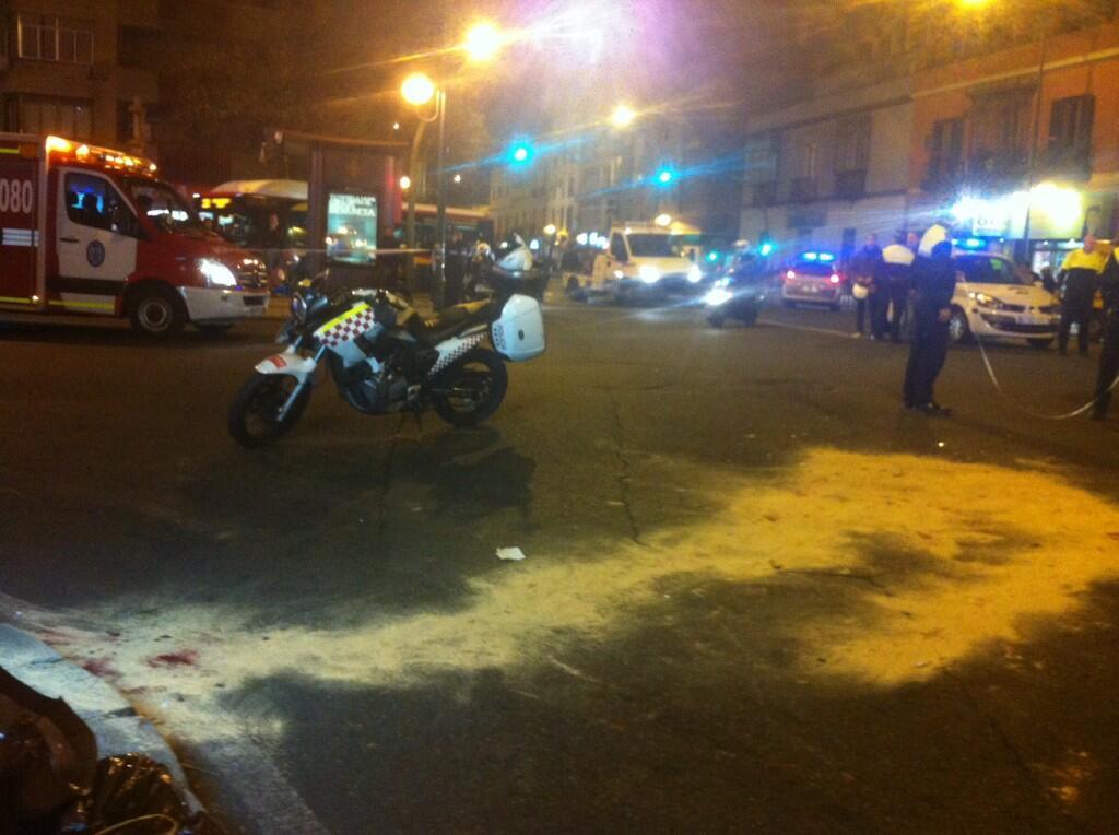 El lugar del accidente de tráfico ha sido cortado durante casi dos horas. / Imagen de @radioalcosa