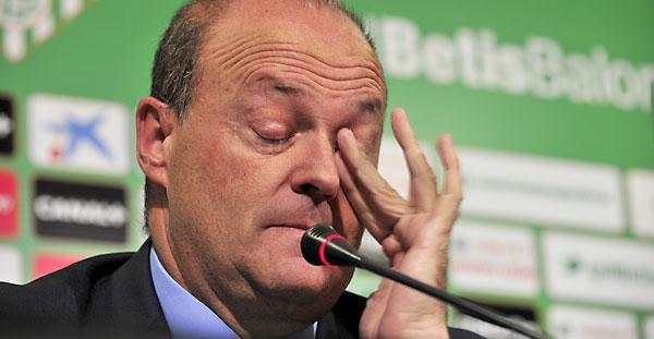 Pepe Mel, durante la rueda de prensa de hoy. / Marcamedia