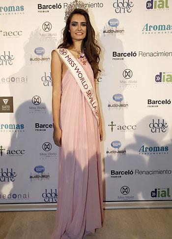 Miss World Sevilla 2013, Rocío García.