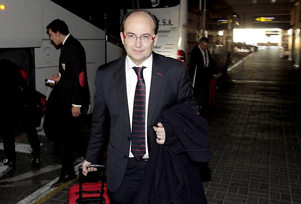 Pepe Castro encabeza la expedición del Sevilla a Santander. / Marcamedia