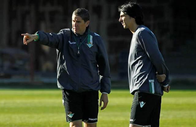 Sergio Fernández (derecha), junto a Juan Carlos Garrido en un entreno.