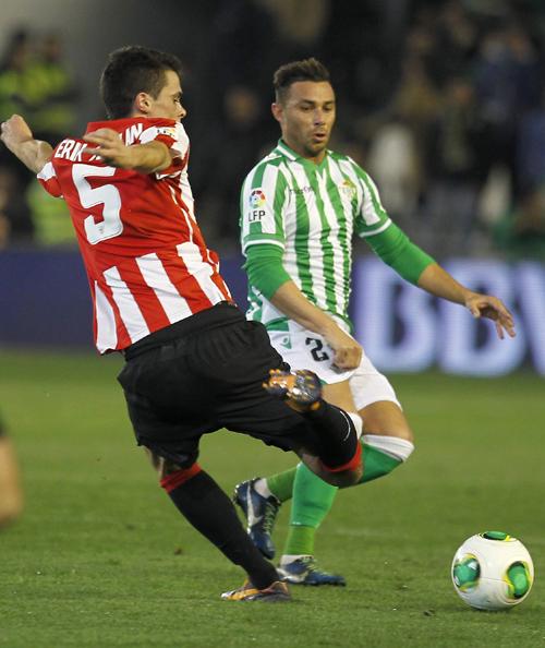 Rubén Castro, en la eliminatoria copera contra el Athletic / J.M. Vidal (EFE)