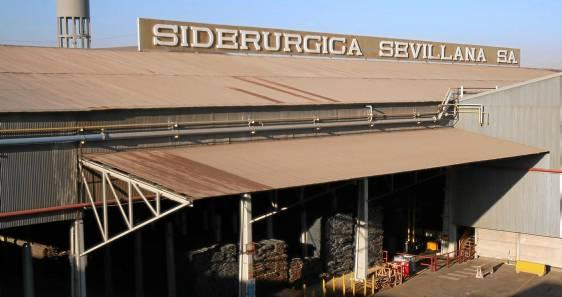 Instalaciones de Siderúrgica Sevillana, ubicada en el municipio de Alcalá de Guadaíra, en una imagen de archivo. Foto de Javier Cuesta