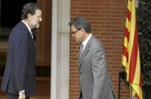 El presidente, Mariano Rajoy, recibe a Artur Mas, presidente catalán, en La Moncloa