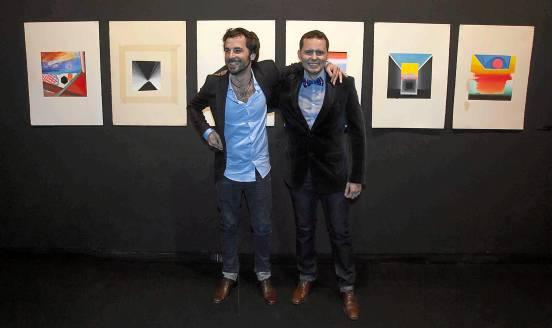 Simón Arrebola y Alejandro Botubol, ayer en la inauguración de la muestra 'NY Studio #204' en el CAS.