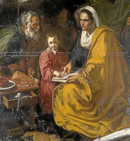 El conservador John Marciari atribuyó a Velázquez La Educación de la Virgen, que estará en Sevilla.